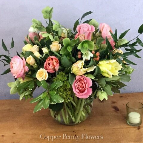 Copper Penny Flowers Designer's Choice Citrus flower arrangement