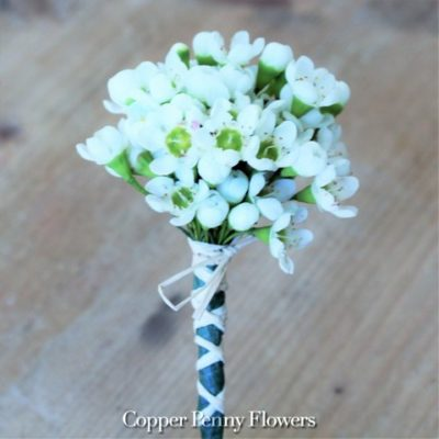 White Waxflower Boutonniere