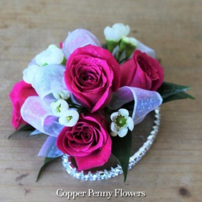 Bright Pink Rose Corsage