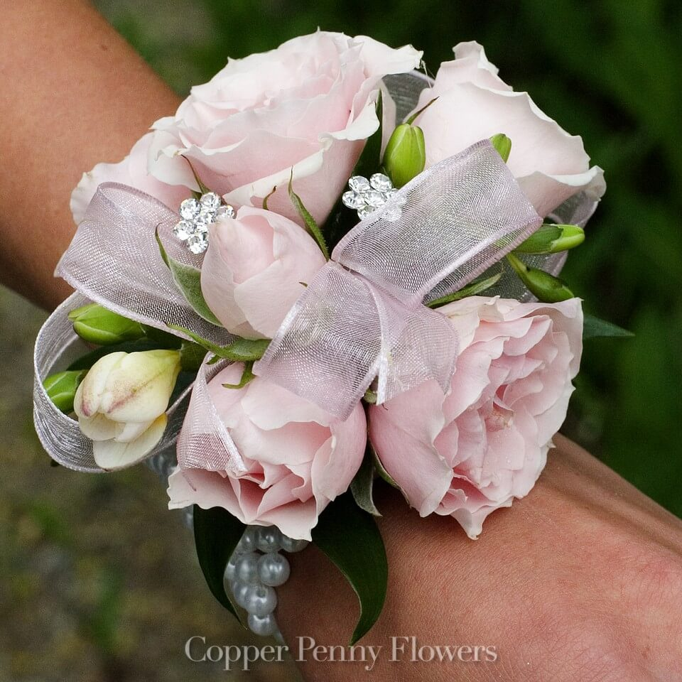 Build your own rose boutonniere new from copper penny flowers pink on pink corsage mightylinksfo