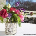 Bat Mitzvah Flowers Mercury Glass