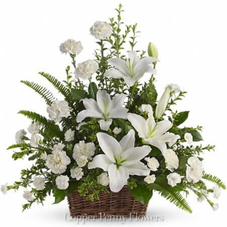 flower basket for Westford client