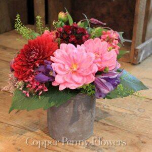 garden jewels floral arrangement in Weston MA