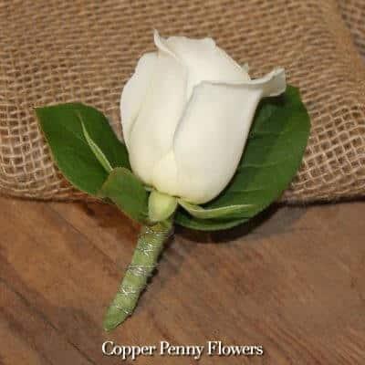 White Rose Boutonnière